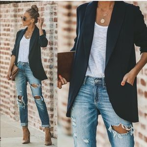 Jackets & Blazers - Black blazer long sleeve jacket coat